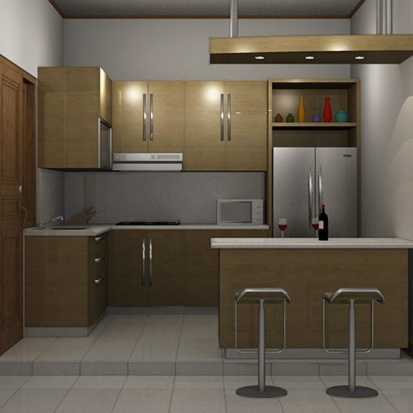 Kitchen Set Warna Coklat: Furniture Minimalis Bandung Dua